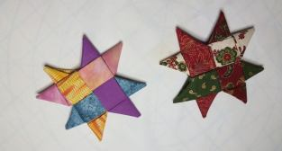 Fabric folded stars